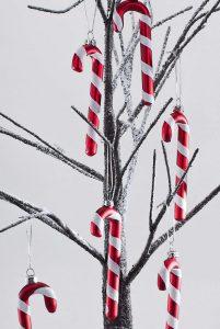 Christbaumschmuck Zuckeranhänger aus Glas