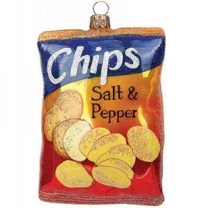 Chips-Anhänger für den Christbaum
